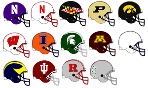 Big 10 Helmets 2014 by Chenglor55