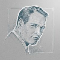 [sketch] Paul Newman by BikerScout