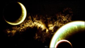 planets and Nebula by tozzie