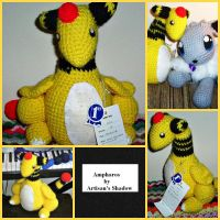 Ampharos Collage by ArtisansShadow