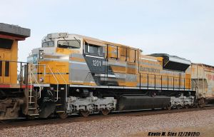 Caterpillar painted SD70ACe locomotive #1201 by EternalFlame1891