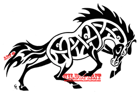 Fierce Celtic Horse Tattoo by WildSpiritWolf