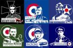 Flying Circus Air Aces WWI t-shirt designs by Almayer