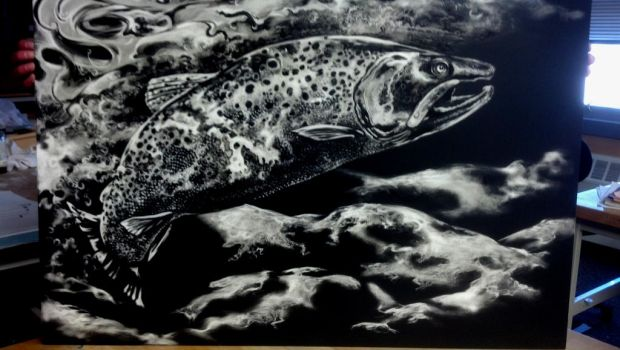 brown trout scatchboard by mountaintrout
