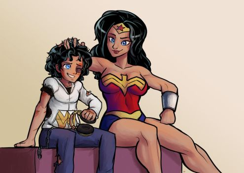 Wonder Woman and son. by Ether101