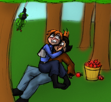 Apple Picking by Da-Wabbit