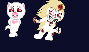 Two totaly different Albinos by cyngawolf