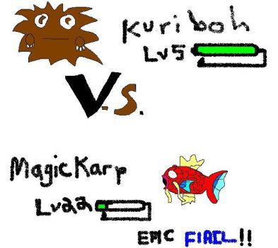 Kuriboh VS Magicarp,Epic Flail by TyphlosionExplosion