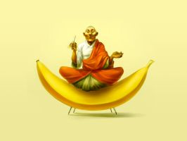 budha banana by wallpapers