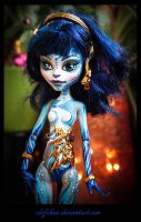 monster high ooak repaint : Senistra2 by clefchan