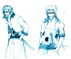 Grimmjow sketches by Haruwe
