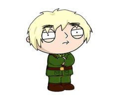 Stewie as England by HalloweenBloodyQueen