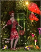 Elves in the forest by Alessandra3DArt