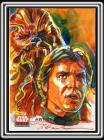 Han and Chewbacca by markmchaley
