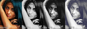 Black and White Photoshop Actions by Grace-like-rainx