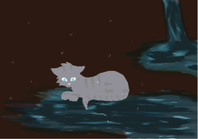Jayfeather.... at the moonpool by JellybellStar