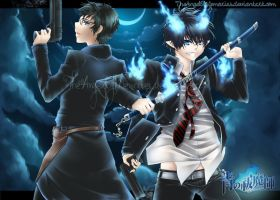 Ao no Exorcist by utaemon