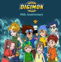 Digimon 10th Anniversary by Valaquia