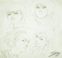 Sketchy Faces by thatSanj