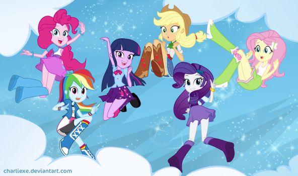 Equestria Girls by charlieXe