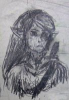 Link doodle on school desk by Ilionej
