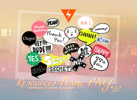 Resources Frame / PNG by Ciao-A