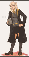 Hufflepuff Winry by ohwellthen