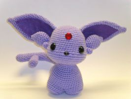 Espeon crochet doll by Tia-tony