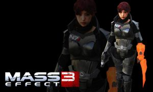Mass Effect 3 : Female Commander Shepard Wallpaper by raitophotography