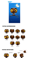 INTEL Pocket Avatars - Potoo Rotation Sheet by Cryptid-Creations