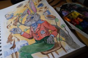 The March Hare WIP by DariaGALLERY