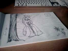 Winter forest songs by Drawing-Heart