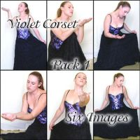 Violet Corset Pack 1 by kythca-stock