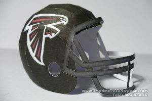 Falcons NFL Helmet Papercraft by Dil1880
