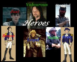 Heroes Collage by AragornofRedwall