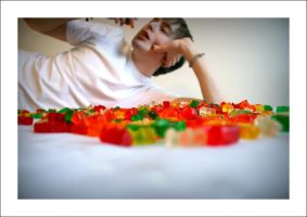 gummy bears and matthew by duhitsmia