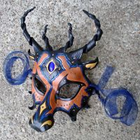 Jeweled Dragon Leather Mask by merimask