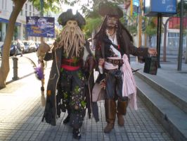 Davy Jones and Jack Sparrow by o0ghost0o
