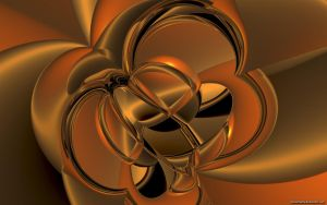 Golden Abstract Wide by VickyM72