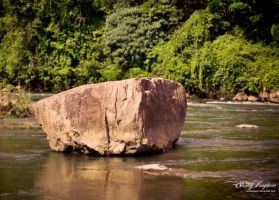 Floating Stone by kodereaper