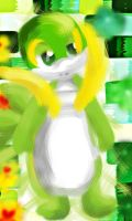Snivy by The-Pink-Green-Chibi