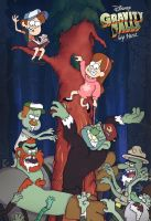Gravity Falls Crombie Invasion by He-st