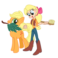 My Little Pony - Applejack and Megan by Trinityinyang