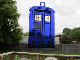 Doctor Who Stained Glass Tardis In the Light by captiveaura