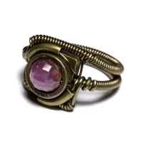 Steampunk Ring Nartural Ruby by CatherinetteRings
