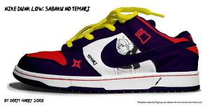 Nike Dunk Low:Sabaku no Temari by DertyHarry