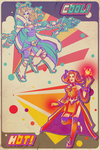 Retro 80's Crystal Maiden / Lina poster by ChemicalAlia