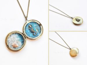 Sea Locket 3 by VintageLightJewelry
