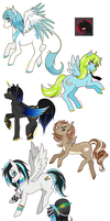 Batch o' Ponies - Coms and trades by HoshiBerry