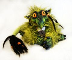 Helmur the baby dragon doll by BeastVoodoo